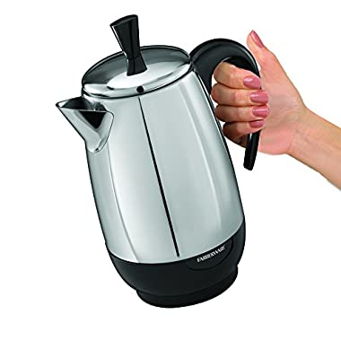 Farberware FCP280 8-Cup Percolator, Stainless Steel, Logo Design May Vary