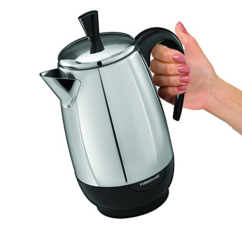 Farberware FCP280 8-Cup Percolator, Stainless Steel