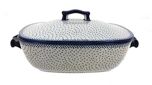 Polish-Pottery-Small-Dots-Covered-Baking-Dish