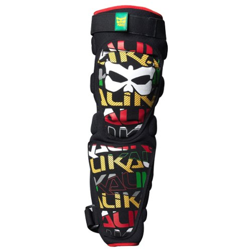 Kali Protectives Aazis Plus 180 Soft Knee/Shin Guard, Rasta, -