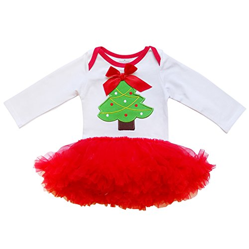 so sydney baby girls christmas tree or snowman ruffle tutu skirt onesie romper xl 18 24 months2t christmas tree