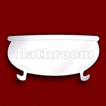 Delightful Bathroom PLAQUE  BATHTUB Door SIGN 12cm Acrylic Bathroom Mirror SUMMER SALE  By Mirrors Interiors