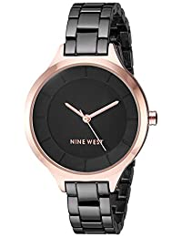 Nine West NW/2225BKRT Women's Bracelet Watch, Rose Gold-Tone/Gunmetal