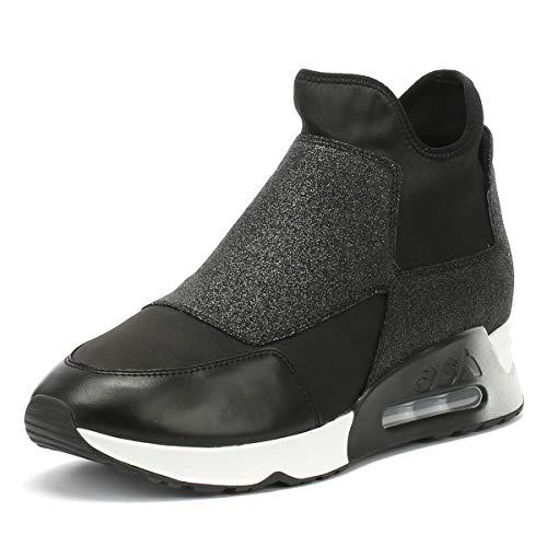Ash - Lazer Glitter Trainer Shoe, Black, 5 (38)