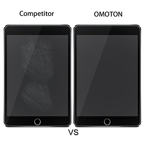 [2 pack] iPad 9.7'' (2018 & 2017) / iPad Pro 9.7 / iPad Air 2 / iPad Air Screen Protector, OMOTON Tempered Glass Screen Protector – Ultra Clear / 2.5D Round Edge/Scratch Resistant by OMOTON (Image #4)