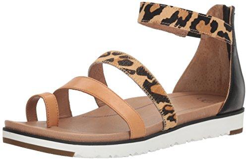 UGG Women's Mina Gladiator Sandal, Chestnut Leopard, 7 US/7 B US (Leopard Ugg)