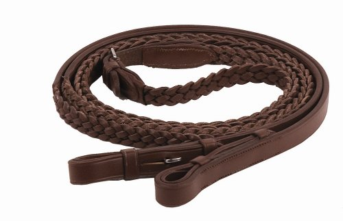 Rein Two - Henri de Rivel Plaited REINS 5/8 INCHES, OAKBARK, 72