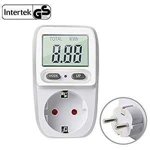 Gifort enchufe medidor de consumo electrico, amplificador de ...