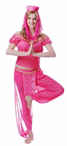 JUNPAI Women's Role Costume Genie Including Hat,Shirt,Trousers (Black Genie Costume)