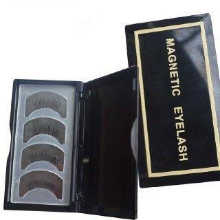 Arishine-Long Dual False Magnetic Eyelashes -Ultra Thin 3D Fiber Reusable magnetic eyelashes 8x Magnetic Eyelashes [No Glue] Premium Quality from J&D Tech