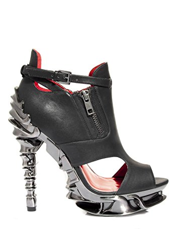 Adjustble Strap Hades Draco Shoes Black Spinal Heel with Ankle CqfXRwq