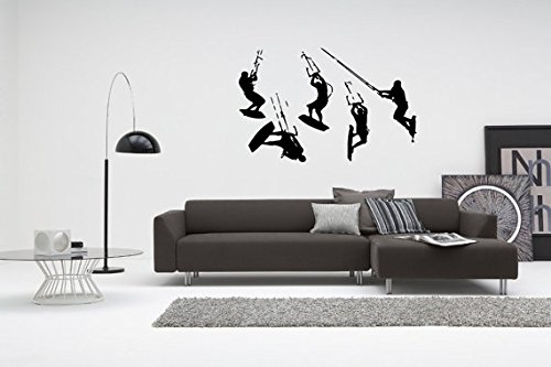 Kitesurfig Wakeboarding Windsurfing Surfing Paragliding Extreme Sport Kiteboarding Wave Riding Freestyle Freeride Wall Sticker Decal G3293