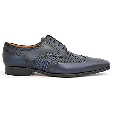 Calce Modish Navy Lace-up Men Formal Shoes