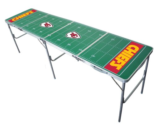 Kansas City Chiefs 2x8 Tailgate Table by Wild Sports -