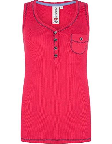 Rebelle 4171-201-1-265 Women's Red Cotton Pajama Pyjama Top