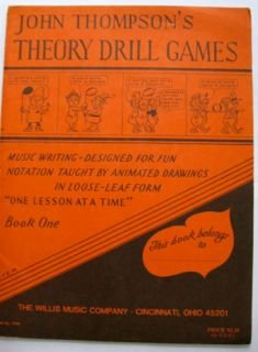John Thompson's Theory Drill Games, Music Writing-Designed for Fun