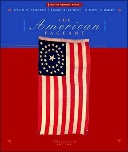 Amazon com: The American Pageant: A History of the Republic