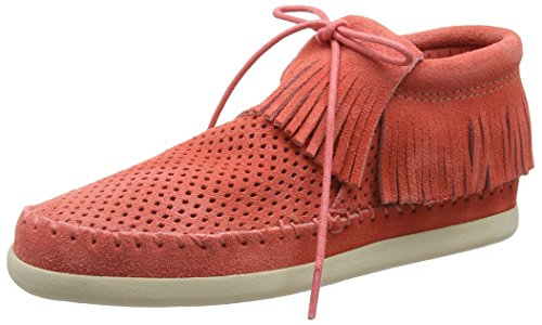 Donna Minnetonka 8p Rosso Venice melon rouge Perf Alte Sneaker OfwIfgqC