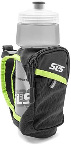 SLS3 Running Handheld Water Bottle - Hand Held Runners Water Bottles - Hydroquick II - Water Bottle Handheld for Running - Zippered Pocket