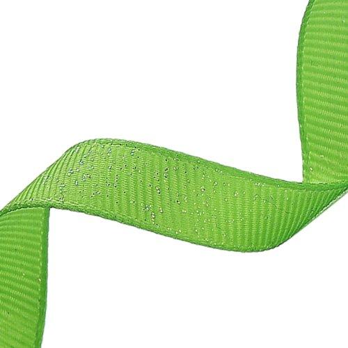 - Morex Dazzle Glitter Grosgrain Ribbon, 5/8-Inch by 20-Yard, Apple Green