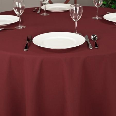 Riegel Premier Hotel Quality Tablecloth, 132'' Round, Burgundy