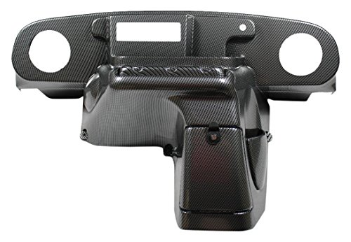 VIP TXDHCFWEZIRT EZGO TXT Dash Carbon Fiber Weave EZ Install Din Radio Speaker Cut-Out 6.5 Inches