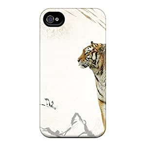 (HpmotOW3444guhEN)durable Protection Case Cover For Iphone 4/4s(tiger Iii)