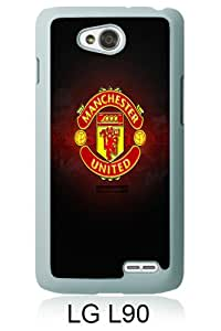 Manchester United Logo iPhone 5 Wallpaper White Personalized Photo Custom LG L90 Cover Case