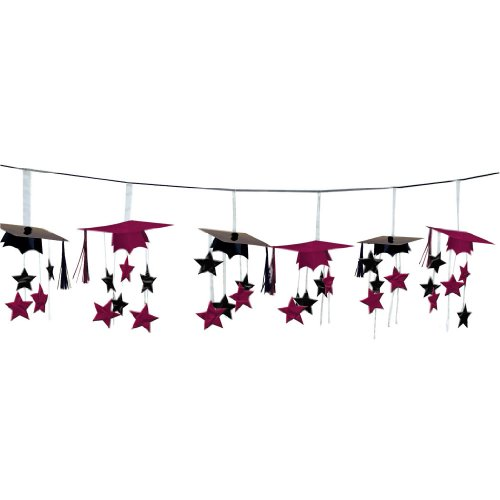 amscan Berry School Colors 3-D Foil Garland Set | Party Favor