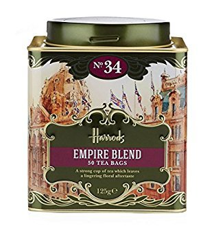 Harrods London. Gift Tin Caddy, No. 34 Empire Blend, 50 Tea Bags 125g 4.4oz Gift Tin Caddy (1 Pack) Seller Product Id Emp0965 ()