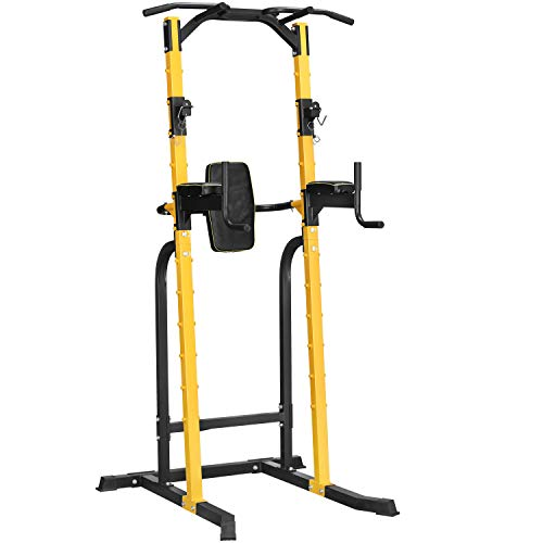HI-MAT Adjustable Power Tower Workout Dip Station Multi-Function Pull up
