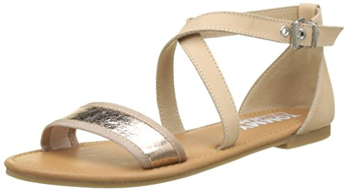 para Rose Sandalia con Mujer Metallic Sandal Pulsera Jeans Rosa Flat Gold 638 Tommy qHB4wx