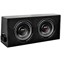 Pyle PLPR212A Dual 12-Inch Slim Design Powered Subwoofer Enclosure System - Set of 1