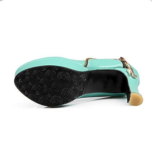 High bleu pour shoes Éclair pumps Fermeture cuir Heels femme brevet balamasa en clair x4IPgfqwf