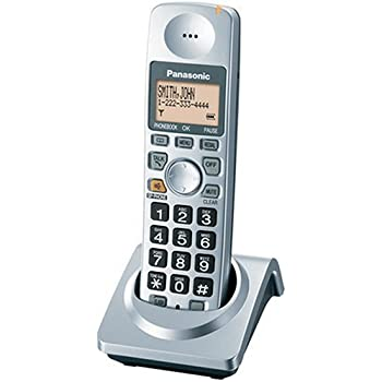 Panasonic KX-TGA101S Extra Handset with Charger for KX-TG1032S, KX-TG1033S, KX-TG1034S Cordless Phones, Silver
