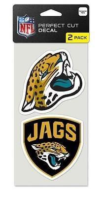 Jacksonville Jaguars Set of 2 Die Cut Decals