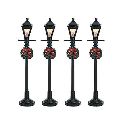 lemax christmas gas lantern street lamp set of 4 bo 45v