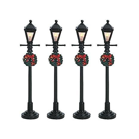 Image Unavailable - Amazon.com: Lemax Christmas - Gas Lantern Street Lamp Set Of 4 B/O