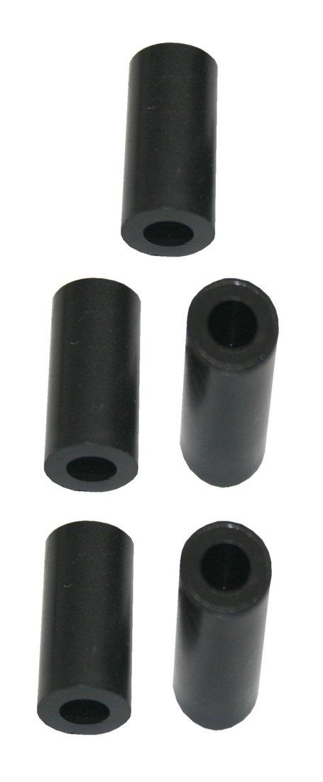 Distanzh/ülse Abstandshalter Abstandsh/ülse M5x10x15mm schwarz 5 St/ück 0108