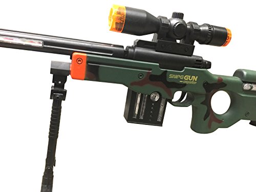 AW50 Sniper Military Combat Toy Machine Gun with Colorful LED Light and Sound Effect by Quest Toys (Image #2)