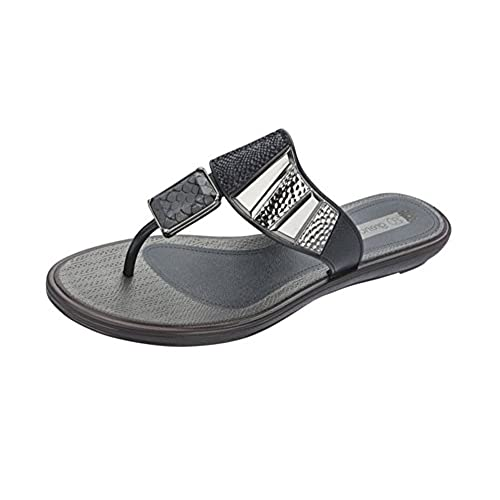 6758c0a04 Grendha Allure Thong Womens Flip Flops   Sandals - Black Snake 50 ...