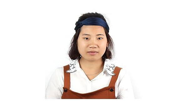 Amazon.com: eDealMax Mujer Señora de poliéster elástico del Pelo de Headwear bufanda del Abrigo de la Banda diadema turbante Azul Marino: Health & Personal ...