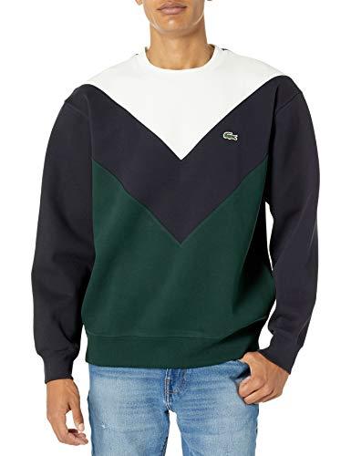 Lacoste Men's Chevron Colorblock Crewneck Sweatshirt