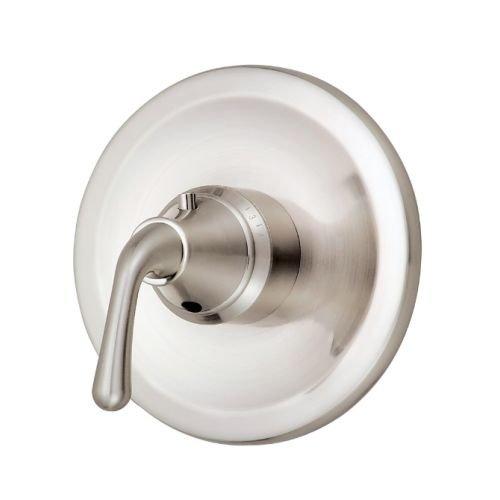 Danze Nickel Dual Faucet - Danze D562056BNT Bannockburn Single Handle 3/4-Inch Thermostatic Shower Valve Trim Kit, Valve Not Included, Brushed Nickel
