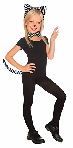 Forum Plush Zebra Child Kit Costume, White/Black - Fashion Express Zebra