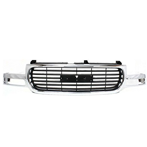 (00-06 Yukon Grill Grille Assembly Chrome Frame w/Black Insert GM1200430 19130787)