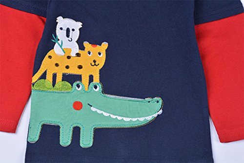Crocodile Little Boys' Pajamas 100% Cotton Long Sleeve Clothes Toddler Kids T-Shirt by LOVE ROSE (Image #2)'