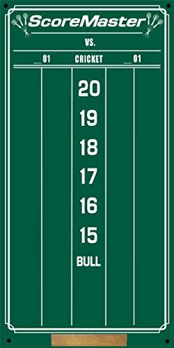 Scoremaster Small Chalk Dart Scoreboard (Green) for Cricket and 01 Games