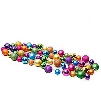Lilian Multi Color 78.74inch Shatterproof Christmas Ball Garland(Color Random)