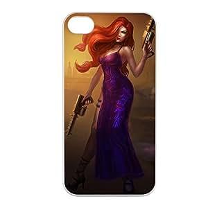 MissFortune-002 League of Legends LoL case cover for Apple iPhone 4 / 4S - Plastic White